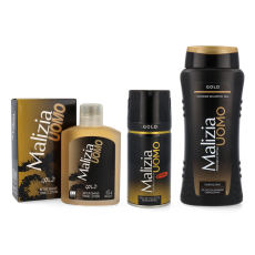 MALIZIA UOMO GOLD Set deo + duschgel + Aftershave