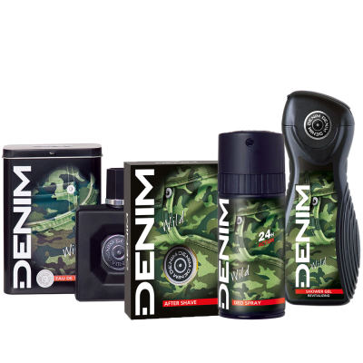 DENIM WILD Set - Eau de Toilette + After Shave + deo + duschgel