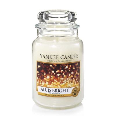 Yankee Candle All Is Bright Duftkerze Großes Glas 623 g