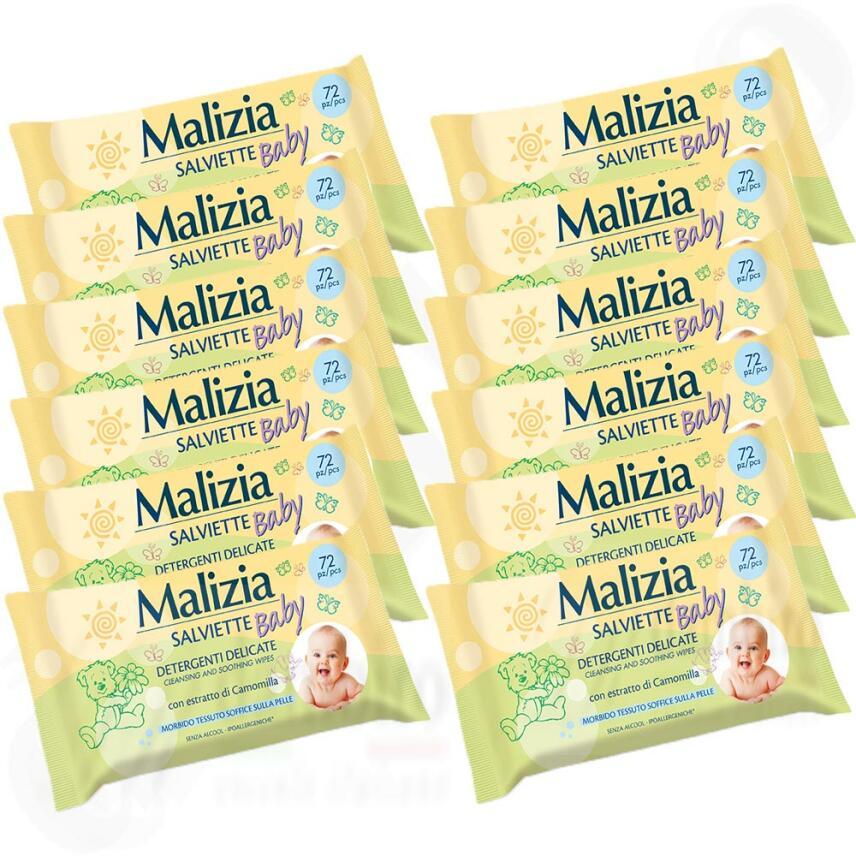 MALIZIA Feuchttücher Pflegetücher Aloe Vera /& grüner tee 864 Tücher 12x72 Stück