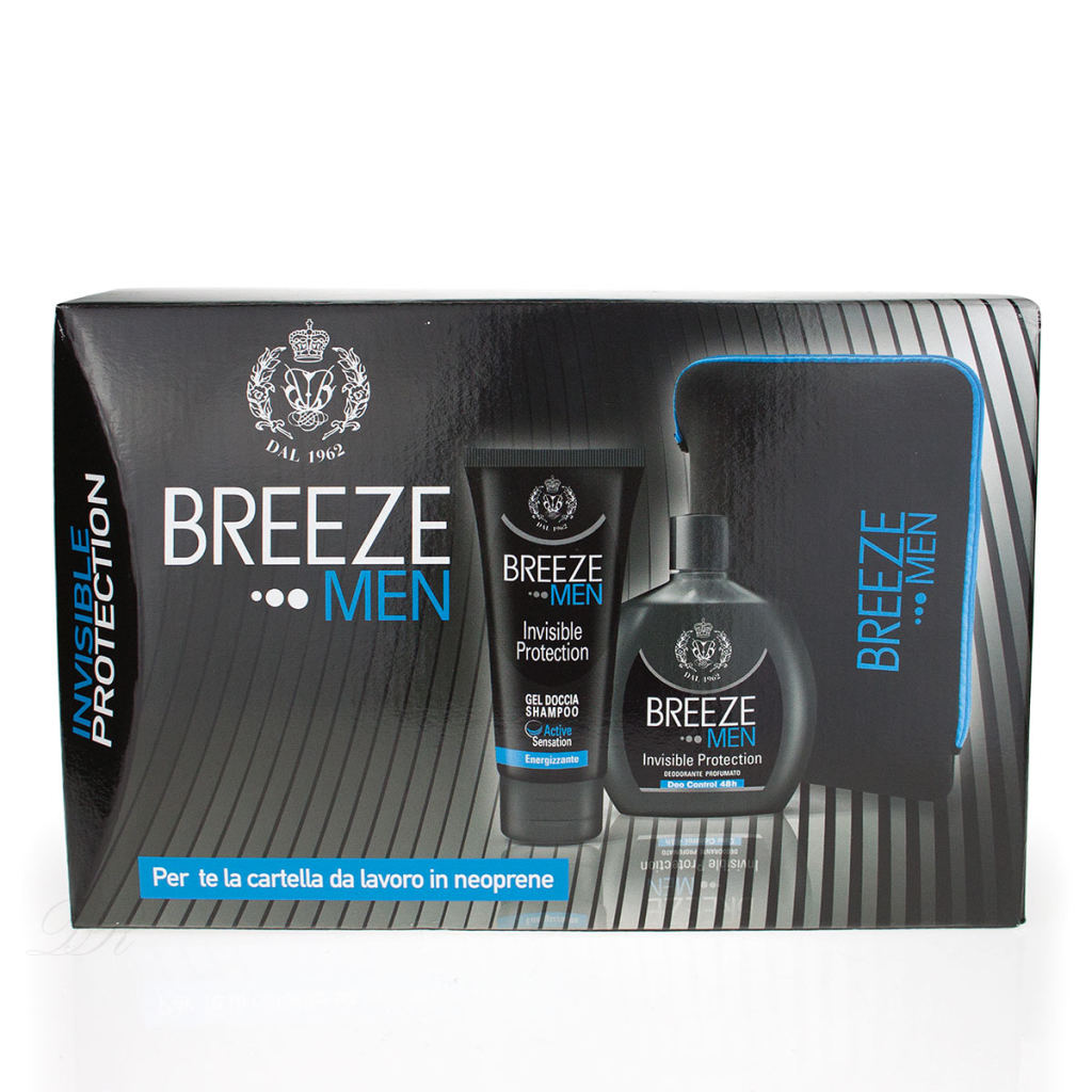 Breeze Men Invisible Geschenk Set Herren deo squezze + duschgel