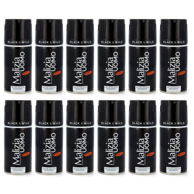 Malizia Uomo Black & White deodorant EdT deo 12x 150ml