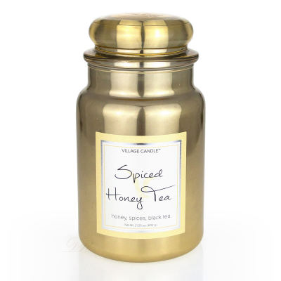 Village Candle Spiced Honey Tea Metallic Duftkerze Großes Glas 626 g