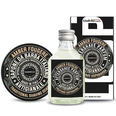 The Goodfellas smile Amber Fougere Shaving Set Aftershave 100 ml + Rasierseife 100 ml