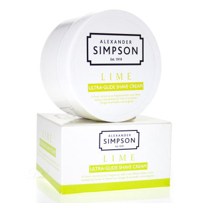Simpson Lime Ultra Glide Rasierseife 180 ml