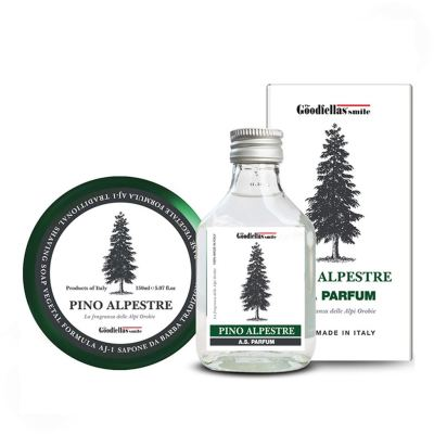 The Goodfellas smile Pino Alpestre Shaving Set Aftershave 100 ml + Rasierseife 150 ml