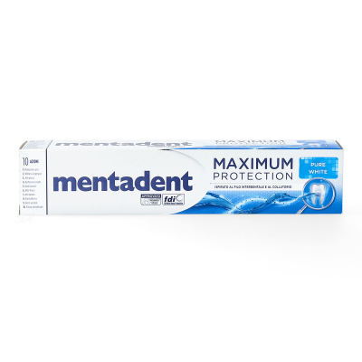 mentadent maximum Protection pure white Zahnpasta 75ml