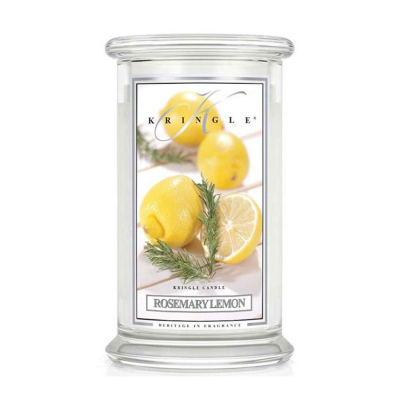 Kringle Candle Rosemary Lemon Großes Glas Duftkerze 624 g