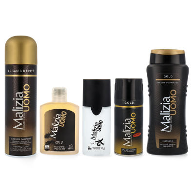 MALIZIA UOMO GOLD Big DreamSet EdT + Deo + AS + RS + Duschgel