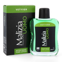 MALIZIA UOMO VETYVER After Shave TONIC Lotion 12x 100ml