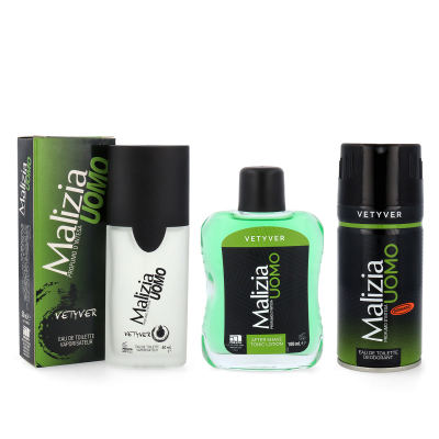 MALIZIA UOMO VETYVER set deo + After shave + Parfum EdT